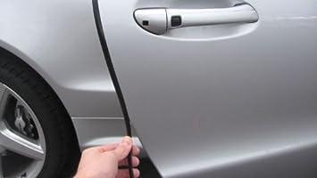 TRUE LINE Automotive Black Door Edge L Shape Molding Kit with 3M Tape (6 Foot)