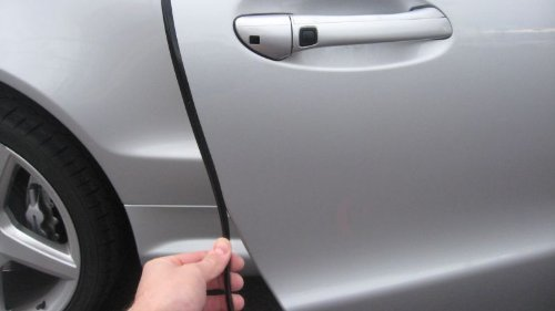 TRUE LINE Automotive Black Door Edge L Shape Molding Kit With 3M Tape (12 Foot)