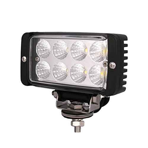 Lightronic Cube LED Driving Lights 24W 5.5 Inch LED Work Lights for tractors Flood Beam 2400LM Off Road Light for For SUV Car Truck Tractor ()