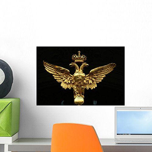 (Romanov Double Eagle Crest Wall Mural by Wallmonkeys Peel and Stick Graphic (18 in W x 12 in H) WM333841)