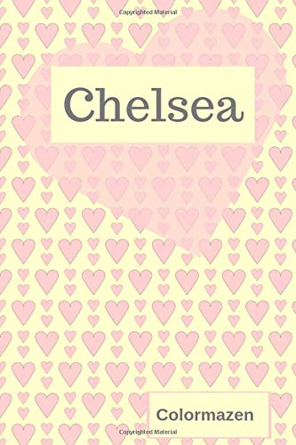 Chelsea Personalised Valentine Heart Notebook In Pink Small Valentine Heart Personalised Notebooks Colormazen Bell Carol 9781795275804 Amazon Com Books
