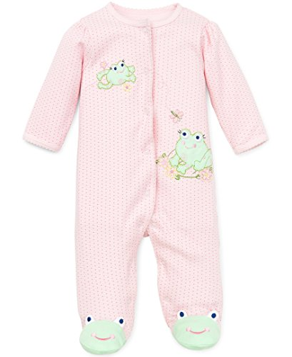 Little Me Frog Friends Footie, Pink, Preemie, 2-Pack