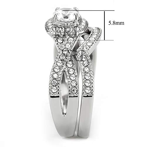 Flamereflection Stainless Steel Rings For Women Infinity Wedding