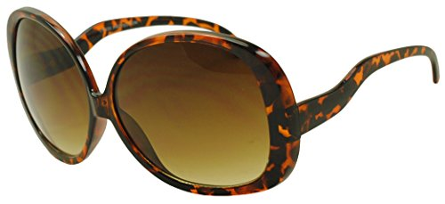 Round Vintage Designer Inspired Sunglasses Celebrity Fashion Style (Demi Tortoise, 80) ()