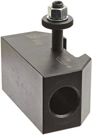 "Dorian Tool QITPN-5 Chromium Molybdenum Alloy Steel Quick Change Morse Taper Toolholder for QITP30N Quadra Indexing Quick Change Tool Post, MT3, 2"" Height"