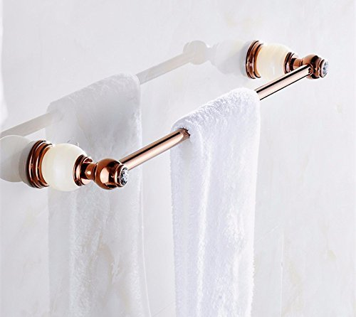 DIDIDD European Bathroom Towel Rod All Copper Toilet Hanging Rack,C by DIDIDD
