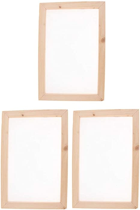 10 x 14 inch Screen Printing Frame for DIY Paper Craft and Dried Flower Handcraft Worown Natural Wooden Paper Making Papermaking Mould