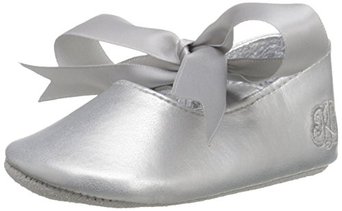 Ralph Lauren Layette Briley Ballet (Infant/Toddler), Silver/Metallic, 1 M US Infant