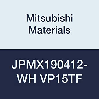 0.047 Corner Radius Mitsubishi Materials JPMX190412-JM VP15TF Carbide Milling Insert Coated Class M 0.187 Thick Round Honing Pack of 10
