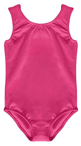 Ymca Halloween Costumes (Dancina Leotard Tank Top Girls First Ballet Dance Lesson Unitard Gift Dance Wear Costume 6 Hot Pink)