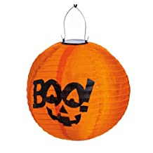 Halloween Pumpkin Boo Solar Powered Lantern