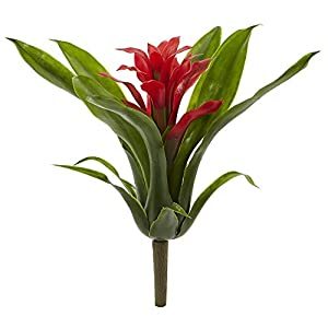 "Nearly Natural 10"" Bromeliad Artificial Flower Stem, Set of 6 2"