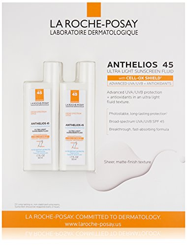 La Roche-Posay Anthelios 45 Ultra Light Facial Sunscreen Fluid, 1.7 Fluid Ounce (Pack of 2)