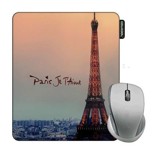 Cowcool Eiffel Mouse Pad Eiffel Paris Je T'Aime Mouse Pads for Computers Laptop Gameing