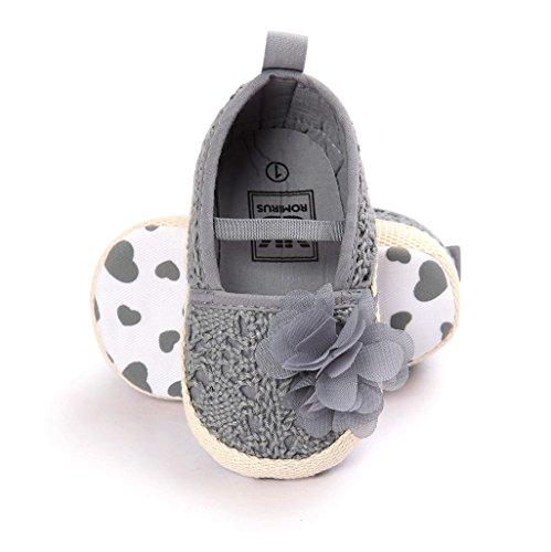 Antideslizantes Flores Auxma 12 Zapatos Gris 0 Infantil Niña 18 Para Primavera 6 Interior 12 De Verano Zapatillas Meses Bebé 6 B08rp0wxq