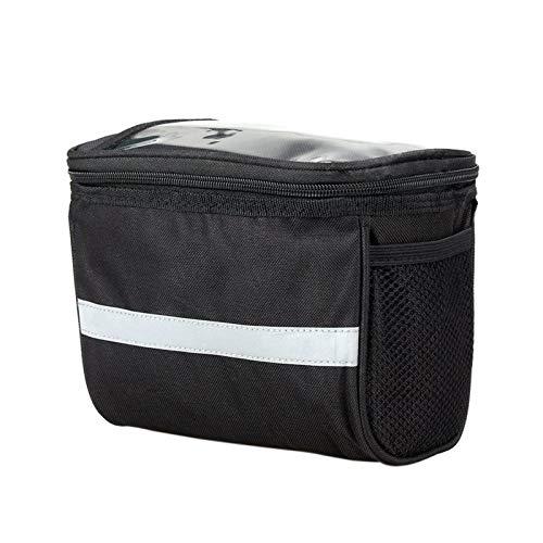 Funnmart Large Capacity Bike Front Basket Durable Waterproof Tube Handlebar Bag Outdoor Sport Accessories Bicycle Bags