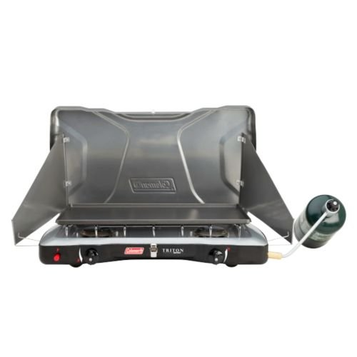 Coleman Triton + 2-Burner Propane Stove - Series Chrome Plated Dinner