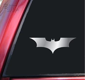 "Batman Begins / The Dark Knight Vinyl Decal Sticker (4"" X 1.4"", Shiny Chrome)"