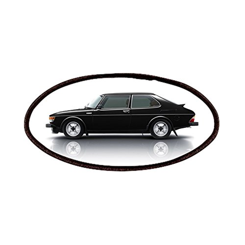 CafePress - Black Saab 900 Patches - Patch, 4x2in Printed Novelty Applique Patch ()