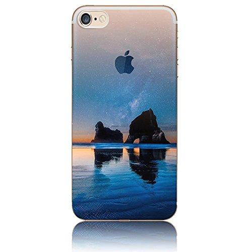 Funda para iPhone 7 8, Vandot TPU Silicona Pintado Funda para iPhone 7 8 Patrones de Pintura Case Suave Flexible Silicone Gel Paisaje Cajas de Teléfono móvil para iPhone 7 / iPhone 8 4.7 - Volcán y E Scenery 20