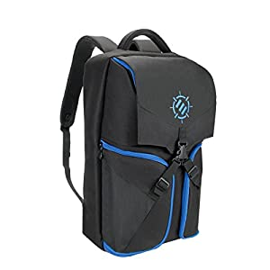 ENHANCE Universal Console Laptop Gaming Backpack for PS4 Pro , Xbox One & Computers - Gear Arsenal Storage for Controllers , Headsets , Games , Mice , Keyboards & Accessories - Essential eSports Gear