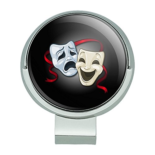 GRAPHICS & MORE Drama Comedy Tragedy Masks Theater Golf Hat Clip Magnetic Ball Marker (Comedy Hats)