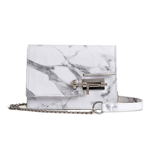 Messenger Mini JAGENIE Pattern White Tote Black Ladies Handbag Bag Marble Women Crossbody Shoulder UUTSvBqw
