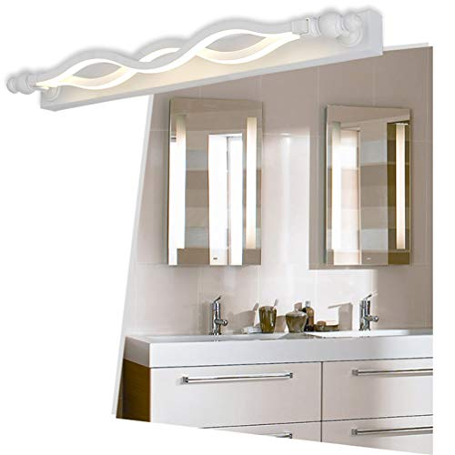 14W-16W LED Mirror Front Lamp Sconce,3-Color Switch dimming Light,RotatableAdjustable Angle No Punching(White),61cm16W