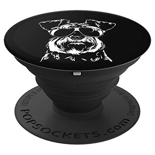Funny Proud Miniature Schnauzer sunglasses dog lover gift - PopSockets Grip and Stand for Phones and Tablets