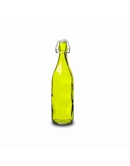 Botella Cristal 0,5L Verde con Tapón Estilo Tradicional Hogarymás