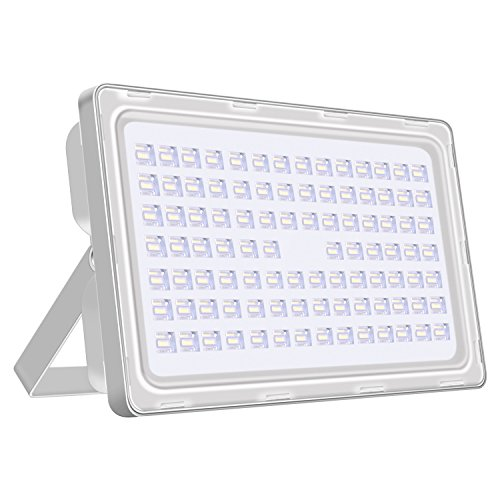 Viugreum 250W LED Outdoor Flood Lights, Thinner and Lighter Design, Waterproof IP65, 30000LM, Daylight White(6000-6500K), Super Bright Security Lights, for Garden, Yard, Warehouse, Square, Billboard by Viugreum