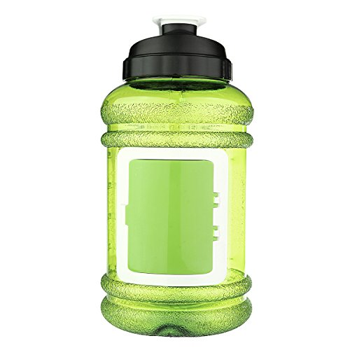 Sport Water Bottle, OUTERDO Drinking Bottle Drinking Container 2.2L BPA Free Big Capacity for Sport Gym Training Camping Workout green