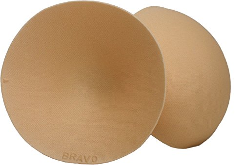 Covers Foam Nipple - Bravo Women's Double Shaper for bra or swimwear. Natural padding for a fuller effect (Nude, B/C)