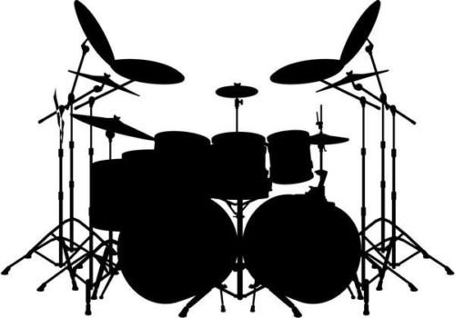 Drums Drummer Rock Band Music Vinyl Graphic Car Truck Window Decor Decal Sticker - Die cut vinyl decal for windows, cars, trucks, tool boxes, laptops, MacBook - virtually any hard, ()