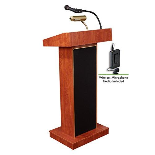 Oklahoma sonido 800x -ch/lwm-6orador atril y Clip de corbata micrófono, cereza