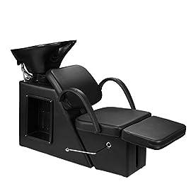 Ainfox Shampoo Barber Backwash Chair, ABS Plastic Shampoo Bowl Sink Chair for Spa Beauty Salon