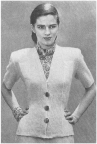 #1933 SHORT SLEEVES, 3 BUTTONS VINTAGE KNITTING PATTERN