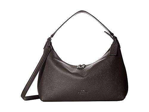 (COACH Women's Pebbled Leather East/West Celeste Convertible Hobo Chestnut One Size)