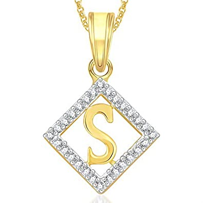 Valentine gifts meenaz gold s letter alphabet jewellery necklace valentine gifts meenaz gold s letter alphabet jewellery necklace pendants chain pendant for girls mozeypictures Choice Image