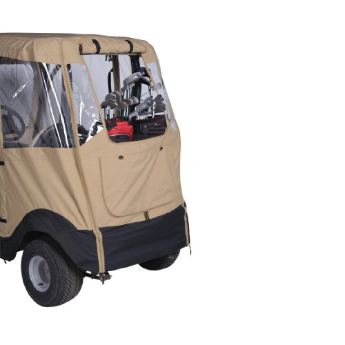 Classic Accessories Fairway Deluxe 4-Sided 2-Person Golf Cart Enclosure For Club Car, Tan by Fairway (Image #3)