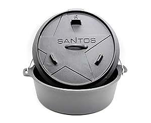 Santos Dutch Oven 5,6litros (aprox. 6Qt (sin pies))