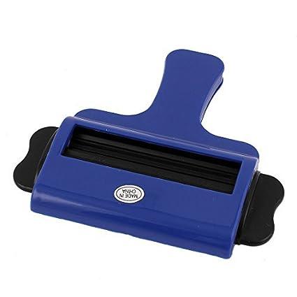 eDealMax Extractos de plástico exprimidor de Pasta de dientes ungüentos balanceo dispensador Azul