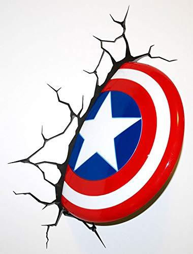 Marvel Captain America Shield Iron On Transfer for T-Shirts & Other Light Color Fabrics #1 Divine Bovinity (Diy Captain America Shirt)
