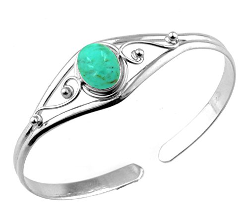 Turquoise Silver Overlay (13.50gms,6.00ctw Genuine Turquoise .925 Silver Overlay Handmade Fashion Cuff Bangle Jewelry)
