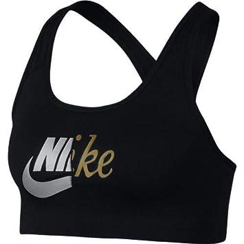 Nike Swoosh Top, Mujer, Black/Metallic Gold, XS: Amazon.es ...