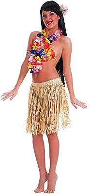 Carnival Toys - Falda hawaiana de rafia de color natural, 45 cm ...