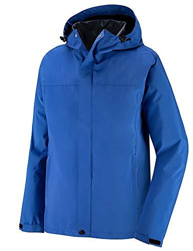 Wantdo Men's Waterproof Rain Jacket Lightweight Packable Trench Spring Coat