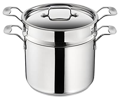 Tefal H8079044 Italian Jamie Oliver Pasta Pot, Stainless Steel