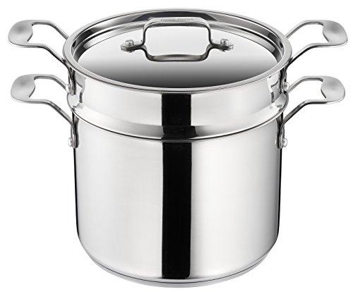 Tefal H8079044 Italian Jamie Oliver Pasta Pot, Stainless Steel