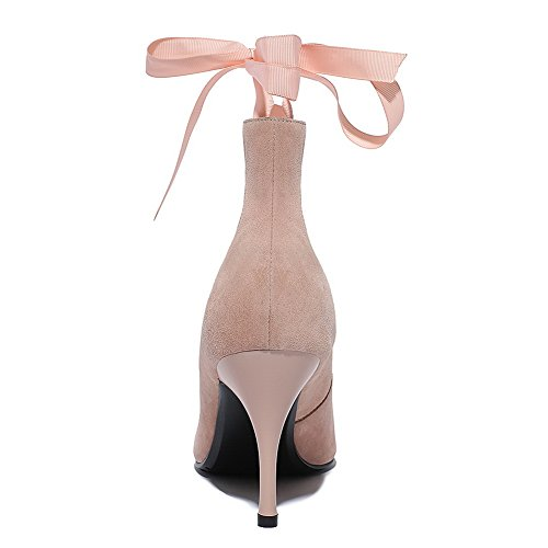 scarpe Solidi Rosa Materiali Punta Weipoot Donne Chiuso Pompe Pull Indicata Miscela on Tacchi B17qEPf4w